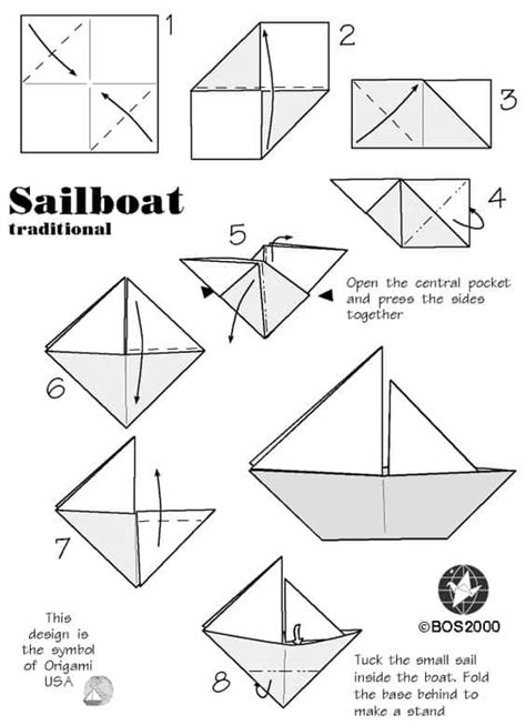 origami little boat instructions how to make an origami boat step by step guide stem