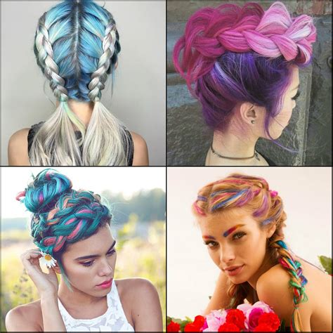 color hair styles impressive pastel color braids hairstyles you won t miss