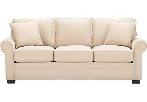 Cindy Crawford Home Bellingham Vanilla Sofa   iSOFA Hidden