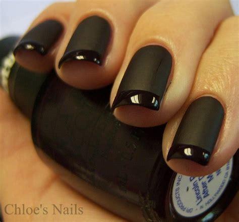 matte black nail designs s nails back to basics