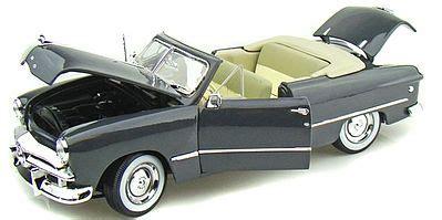 Forde Gry Grey 1949 ford convertible met grey diecast model car 1 18