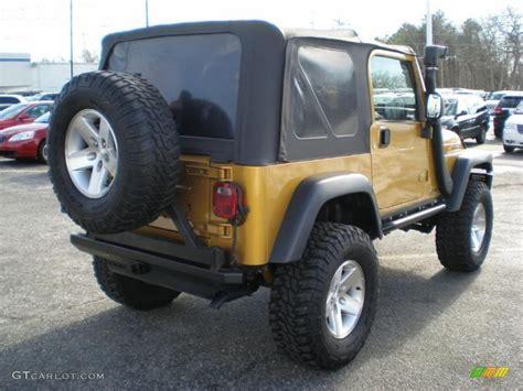 Inca Gold Jeep Wrangler Inca Gold Metallic 2003 Jeep Wrangler Rubicon 4x4 Exterior