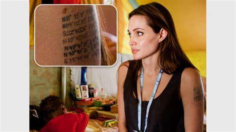 neues tattoo von angelina jolie zum start von the tree of life was bedeutet ihnen