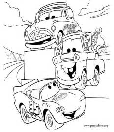 lightning mcqueen coloring page cars lightning mcqueen tow mater and doc hudson