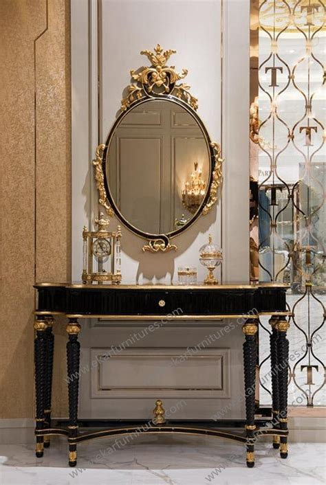 Hallway Table And Mirror Empire Style Golden Gilt Console Hallway Console Table And Mirror To 028