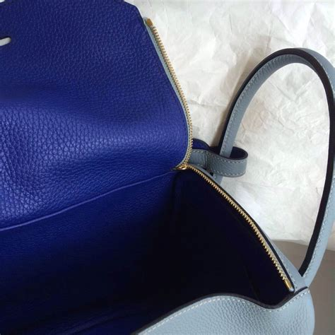 Hermes Lindy 7 112 stitching hermes lindy bag j7 blue 7t blue