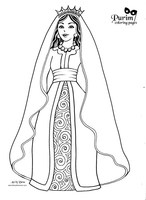 Esther Coloring Pages purim coloring pages
