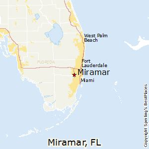 Miramar Florida Map by Best Places To Live In Miramar Florida