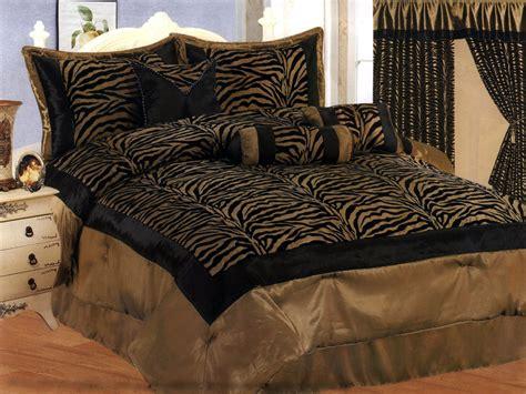 zebra pattern comforter 7 pieces satin light green black flocking zebra pattern