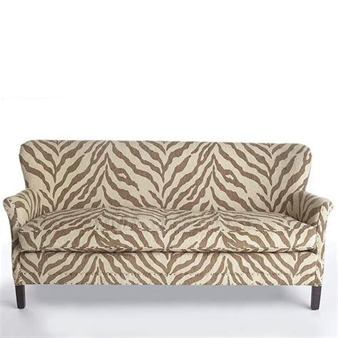 zebra settee brown and ivory zebra print sofa