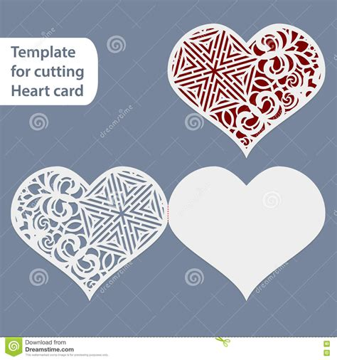 paper cutting card orchid template openwork laser cutting template vector