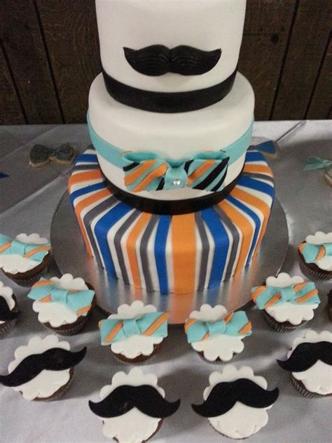 Mustache And Bow Tie Baby Shower by Mustache And Bow Tie Baby Shower Cake And Cupcakes