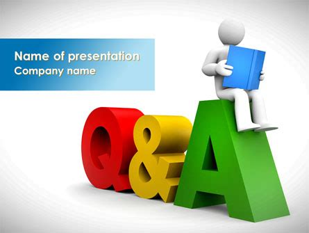 question and answer powerpoint template questions answers presentation template for powerpoint
