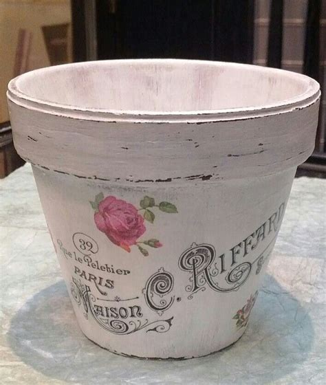 decoupage flower pots diy decoupage flower pot with image from graphics