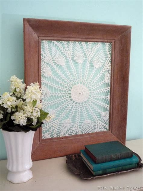beautiful diy fabric  paper doily crafts