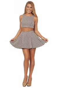 two piece skater skirt and crop top gommap blog