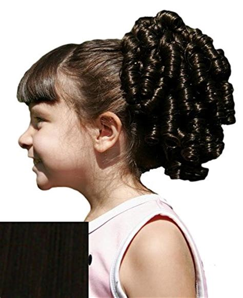 barrel curl hair pieces cheerleader ringlet curly drawstring ponytail 1b off black