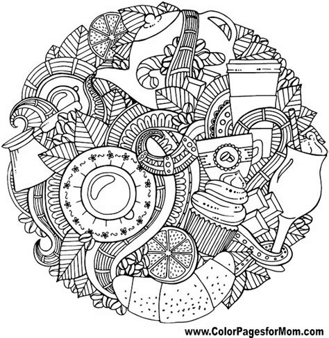 coloring pages for adults food vacation coloring page 50