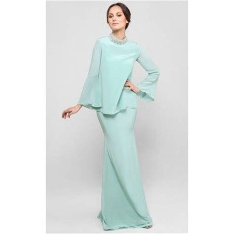 Baju Nikah Green Mint zahariah kurung in mint green kebaya baju kurung green mint green and mint