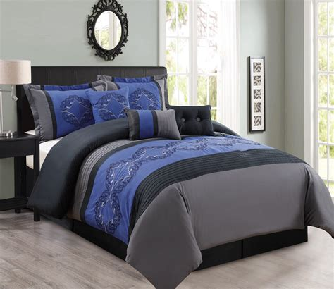 bed in a bag sets 11 navy charcoal black bed in a bag set