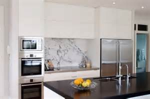 Kitchen trends for 2016 a marble splashback finishes the kitchen and