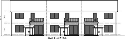 25 wide house plans triplex house plan triplex plan with garage 25 ft wide d 452
