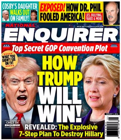 Gossip From National Enquirer by Donald Claims National Enquirer Is Respected