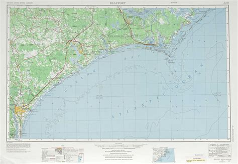 physical map of nc beaufort topographic maps nc usgs topo 34076a1 at