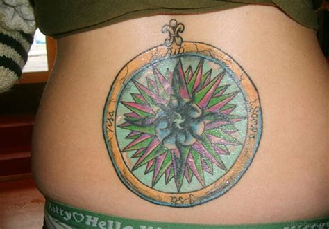 compass tattoo upper back 60 excellent compass tattoos designs on back