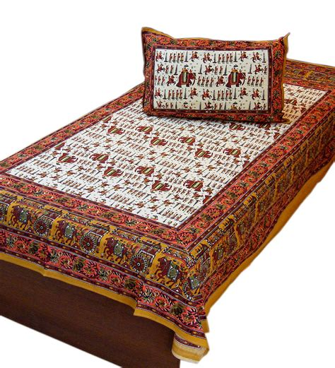 indian bed sheets little india sanganer print cotton single bed sheet pillow