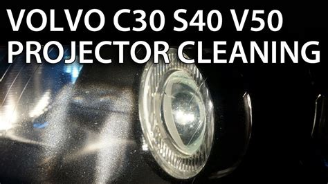 headlights projector lens disassemble  cleaning  volvo     halogen xenon