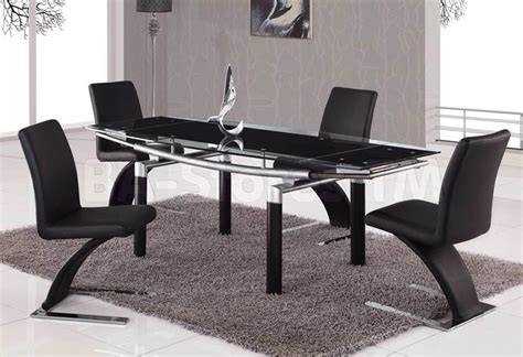 modern furniture usa 5 pc foldable dining set in black global furniture usa