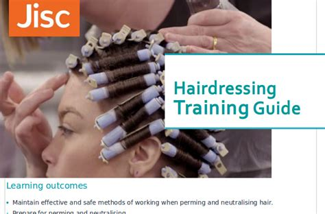 perm sectioning techniques hairdressing training jisc