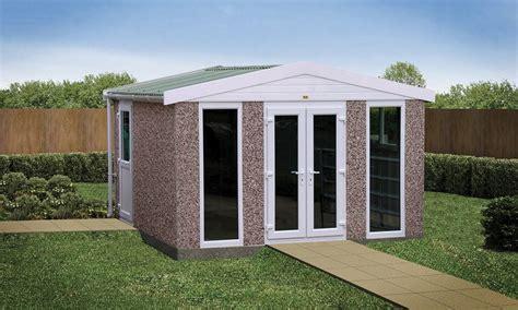 Prefab Concrete Shed by Sectional Concrete Garden Rooms Buildings Lidget Compton