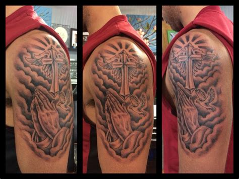 dope cross tattoos best 25 praying ideas on