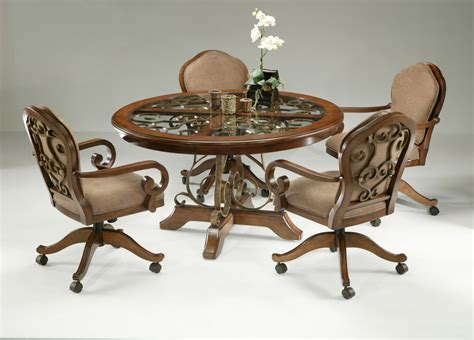 kitchen table chairs with casters kitchen table and chairs with wheels marceladick
