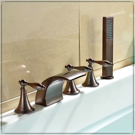 Bathtub Faucets by Waterfall Widespread Bathtub Faucet Holes Mixer Tap With