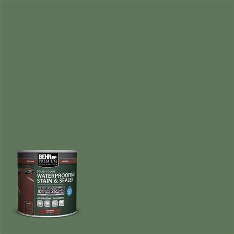 behr premium  oz sc woodland green solid color