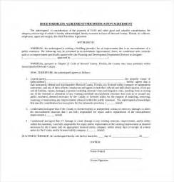 simple hold harmless agreement template 10 hold harmless agreement templates free sle