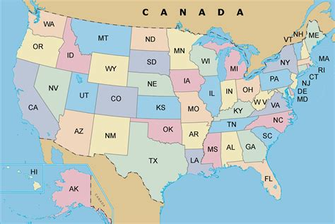 the map of united states of america usa map
