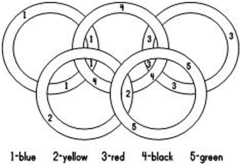 Print The Page Have The Children Use The Guide At The Olympic Rings Coloring Page