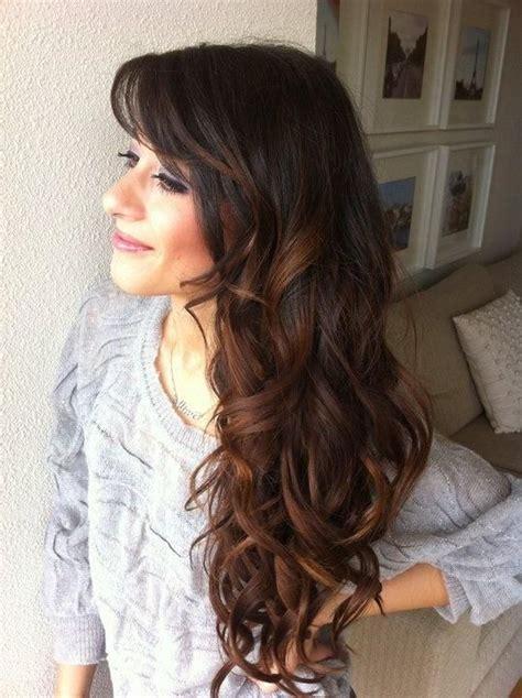hairstyles for dark brown long hair balayage hairstyles for long dark hair