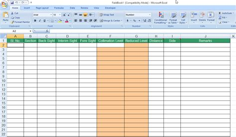 survey field book template help importing cross section data from field book