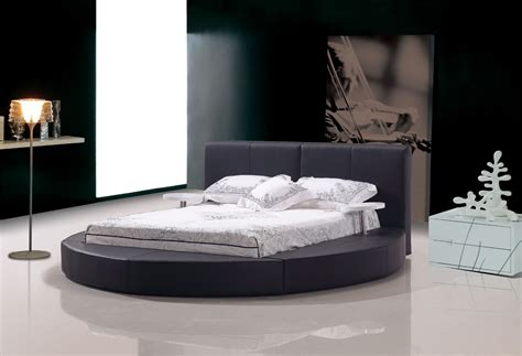 round leather bed atlas modern black leather round bed ebay