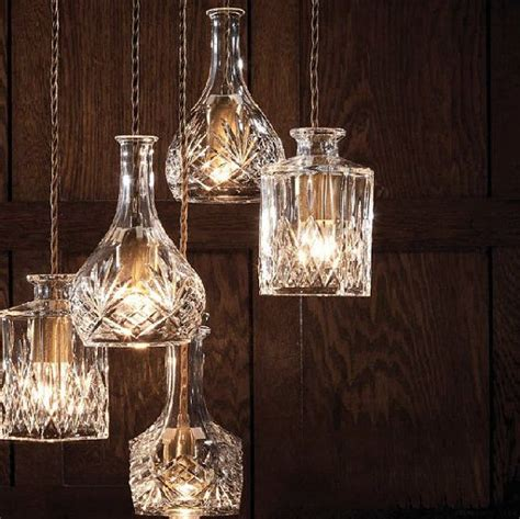 Large Hanging Lantern Chandelier Cut Glass Wine Decanters Get A Second Life As Stunning