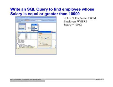 sql tutorial questions and answers top sql query interview questions and answers job