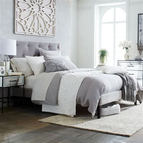 west elm tufted headboard grey headboard diamond tufted headboard west elm design