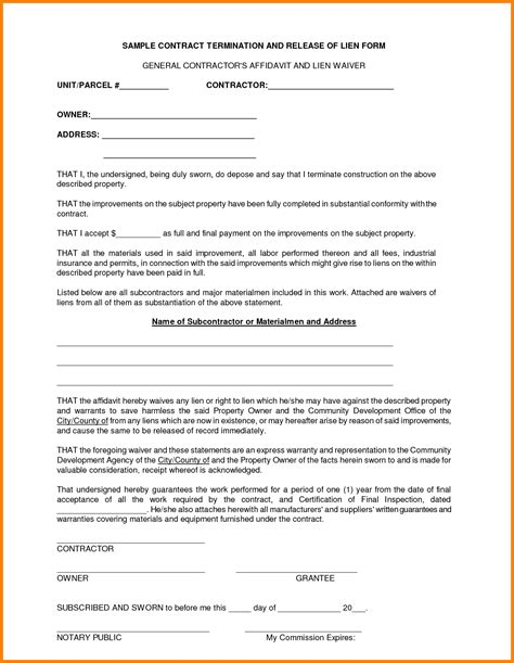 Sle Construction Contract Template Oursearchworld Com General Contractor Forms Templates