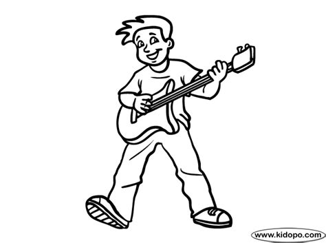coloring page playing guitar play guitar coloring page