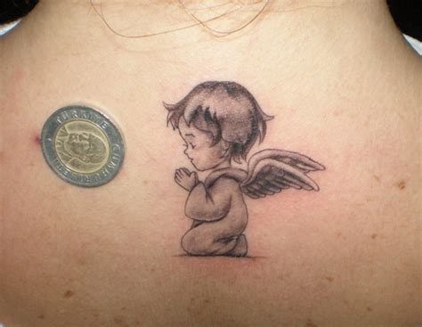 50 small angel tattoos and designs